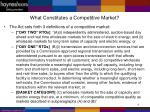 what constitutes a competitive market