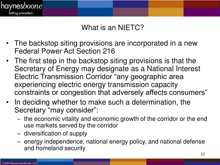 What is an NIETC?