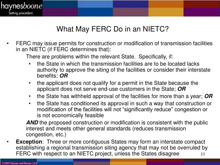 What May FERC Do in an NIETC?