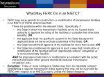 what may ferc do in an nietc