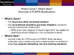 what s gone what s new overview of purpa modifications