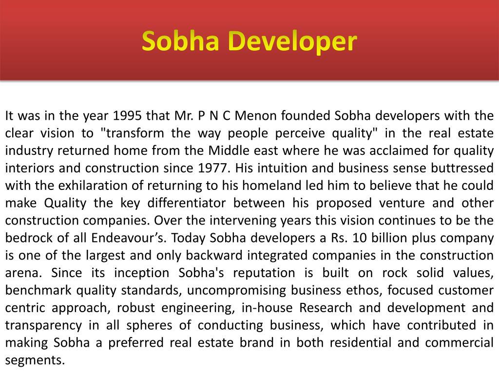 Sobha Developer