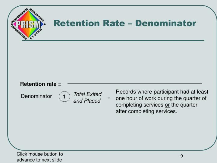 Retention Rate – Denominator