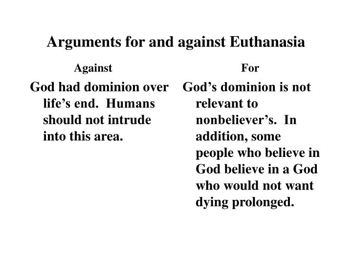 God had dominion over life's end.  Humans  should not intrude into this area.