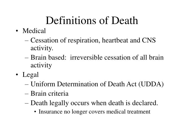 Definitions of Death