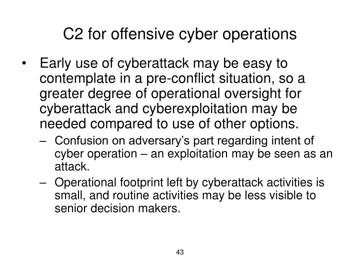 C2 for offensive cyber operations