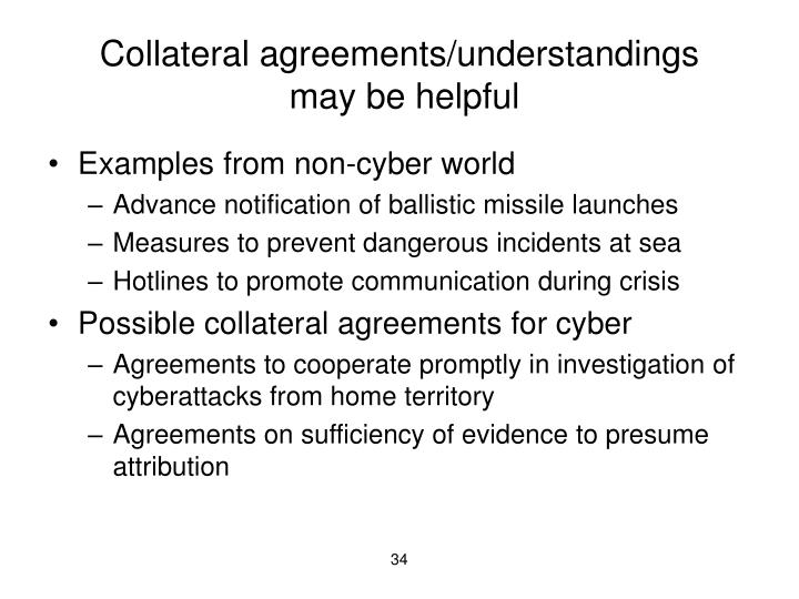 Collateral agreements/understandings