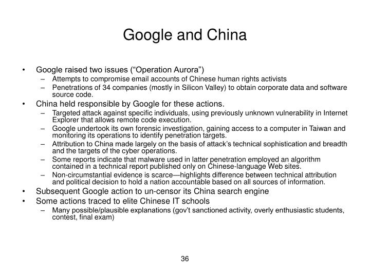 Google and China