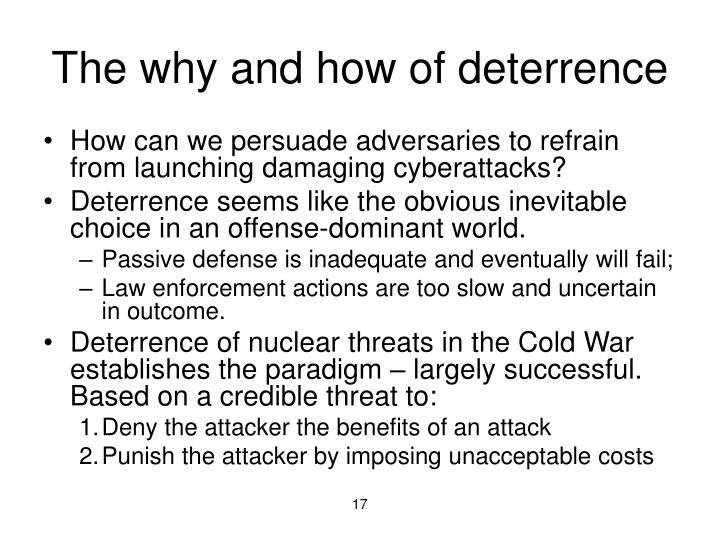 The why and how of deterrence