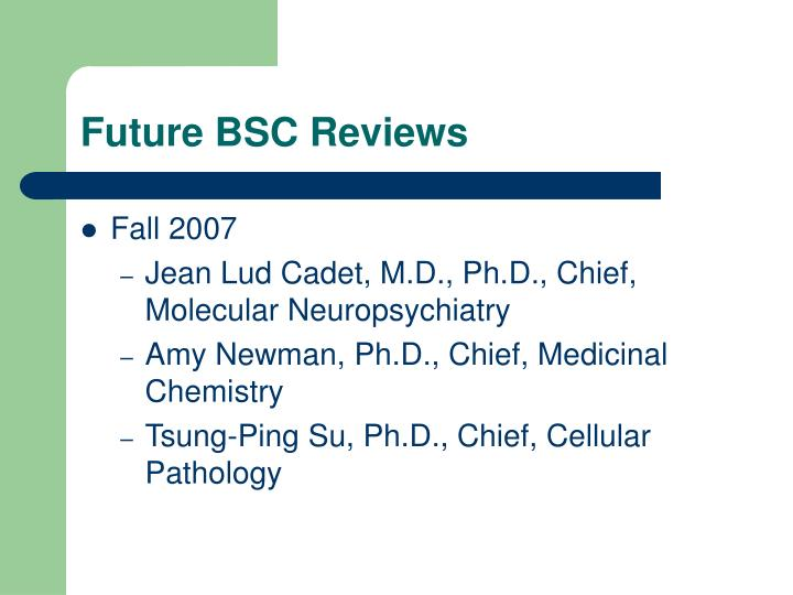 Future BSC Reviews