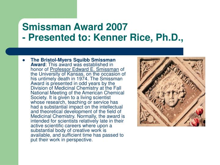 Smissman Award 2007
