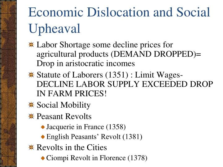 Economic Dislocation and Social Upheaval