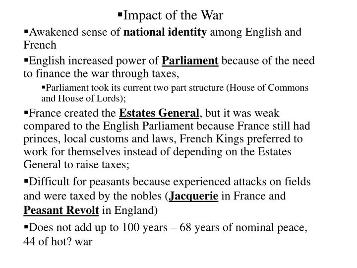 Impact of the War