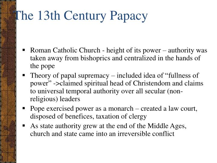 The 13th Century Papacy