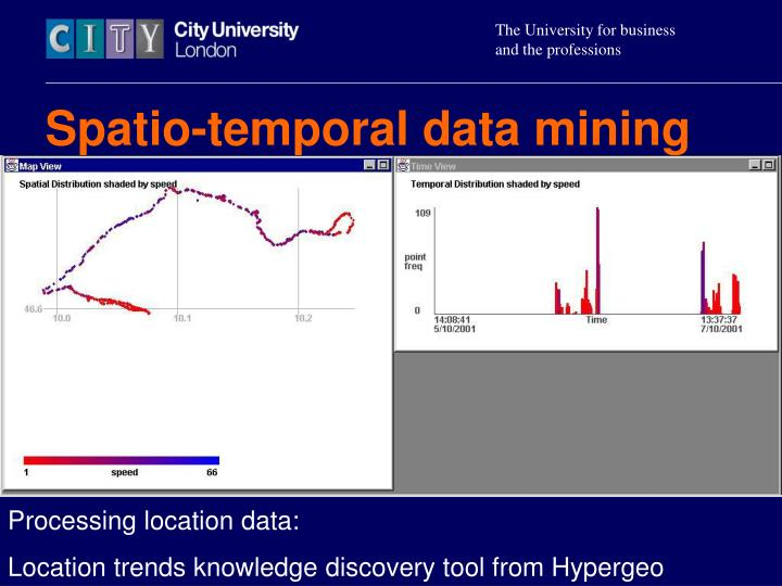 Spatio-temporal data mining