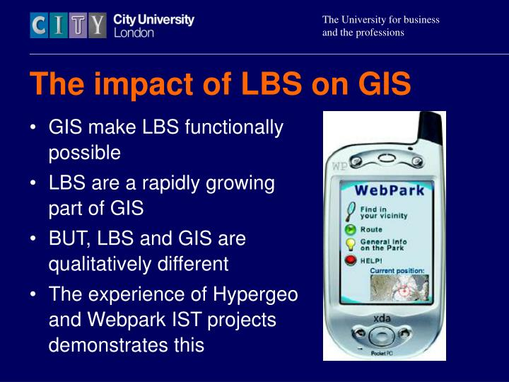 The impact of lbs on gis