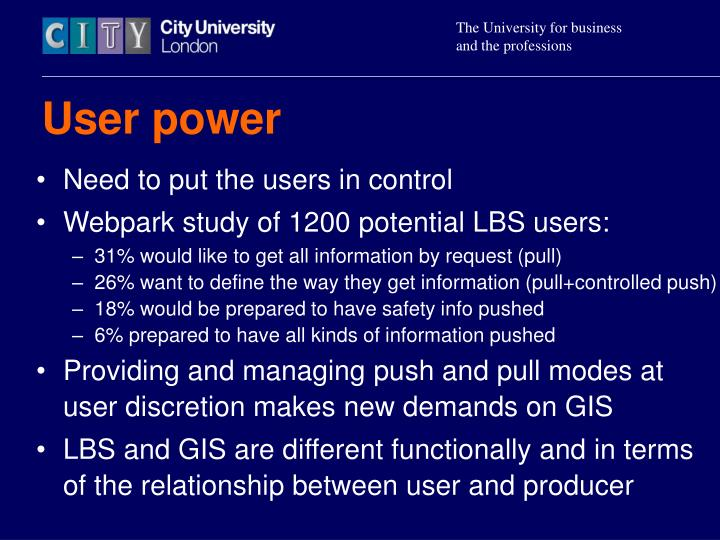 User power