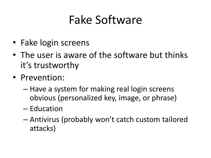 Fake Software