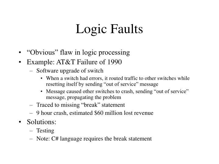 Logic Faults