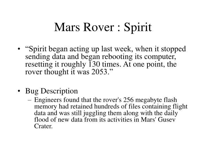 Mars Rover : Spirit