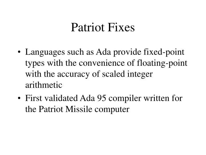 Patriot Fixes