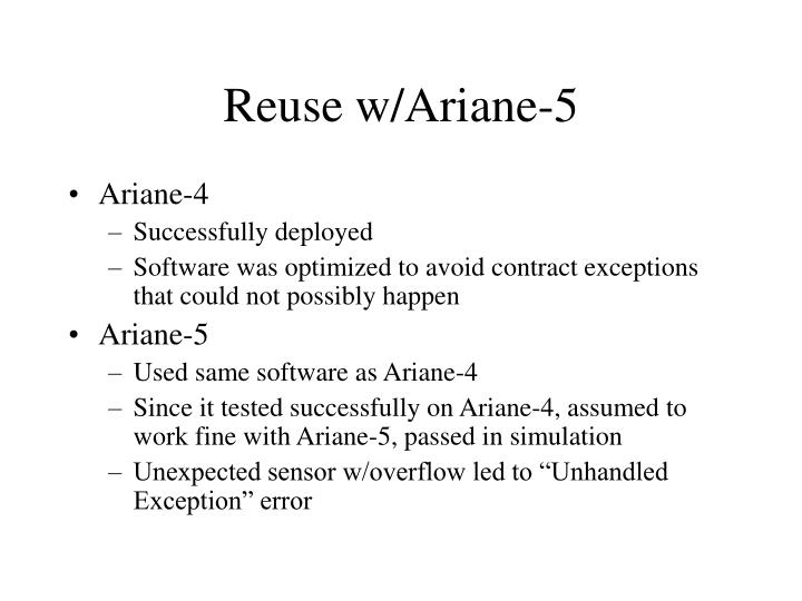 Reuse w/Ariane-5