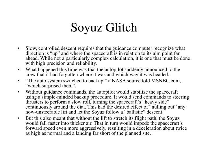 Soyuz Glitch