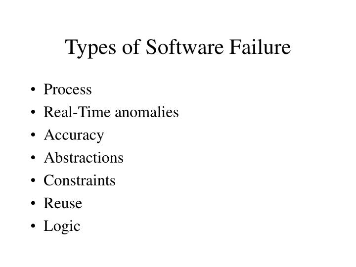 Types of Software Failure