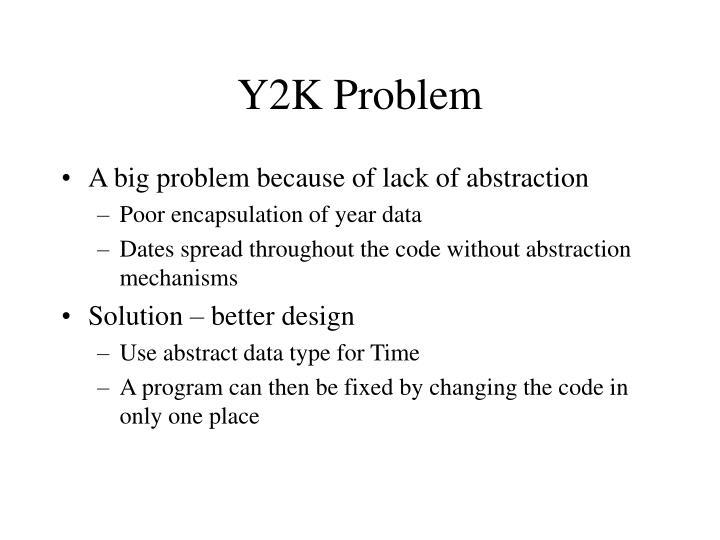 Y2K Problem