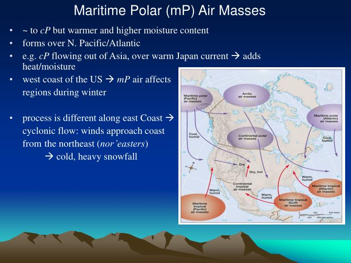 Maritime Polar (mP) Air Masses