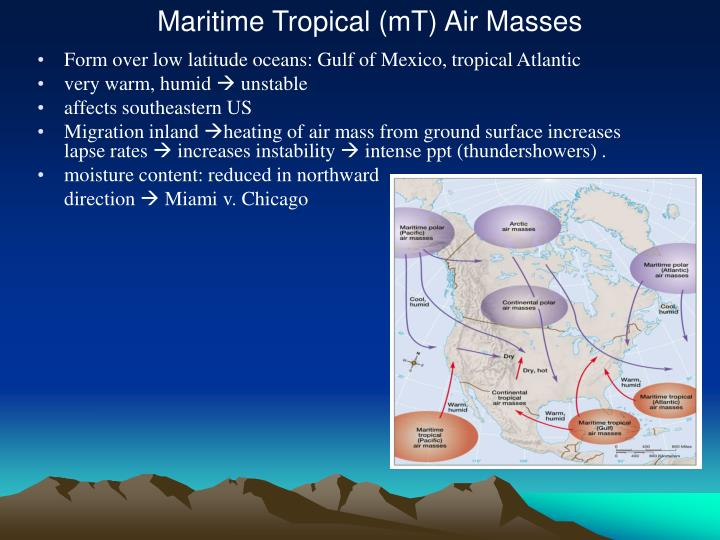 Maritime Tropical (mT) Air Masses