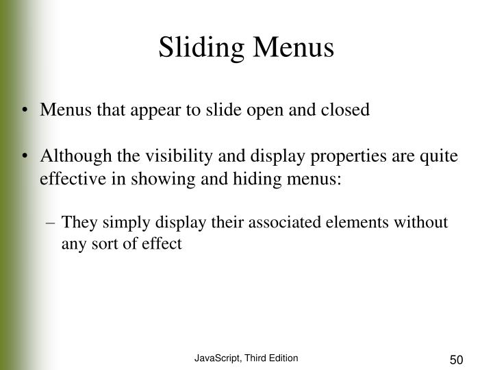 Sliding Menus