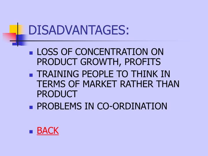 disadvantages of market orientation Critical analysis of a marketing orientation and its benefits and barriers 1 marketing orientation and its benefits and barriers marketing essay print.