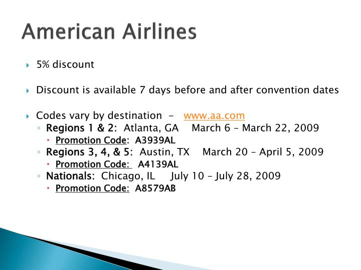 How to use a American Airlines coupon
