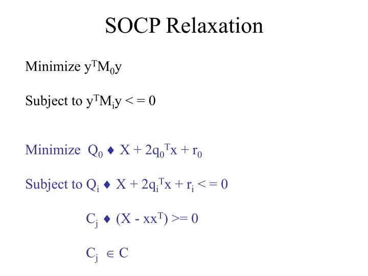 SOCP Relaxation