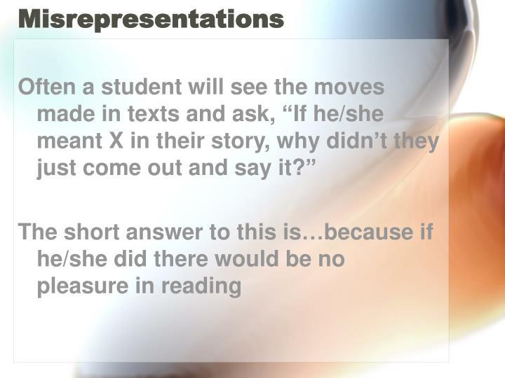 Misrepresentations