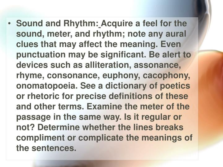 Sound and Rhythm: