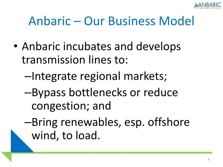 Anbaric our business model