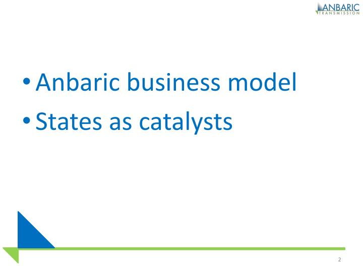 Anbaric business model