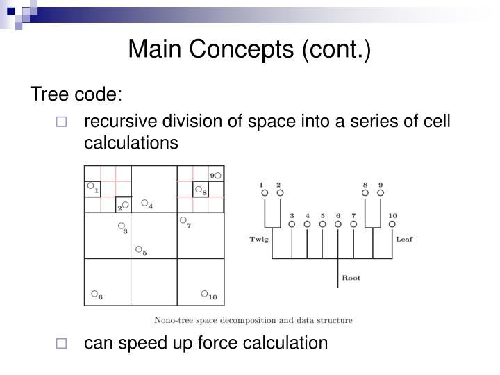 Main Concepts (cont.)