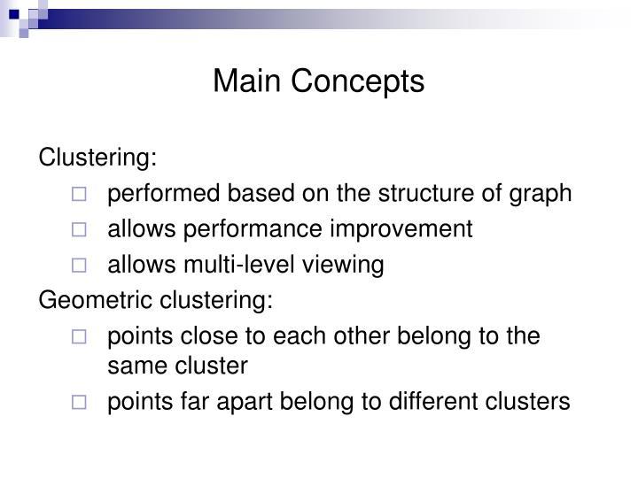 Main Concepts
