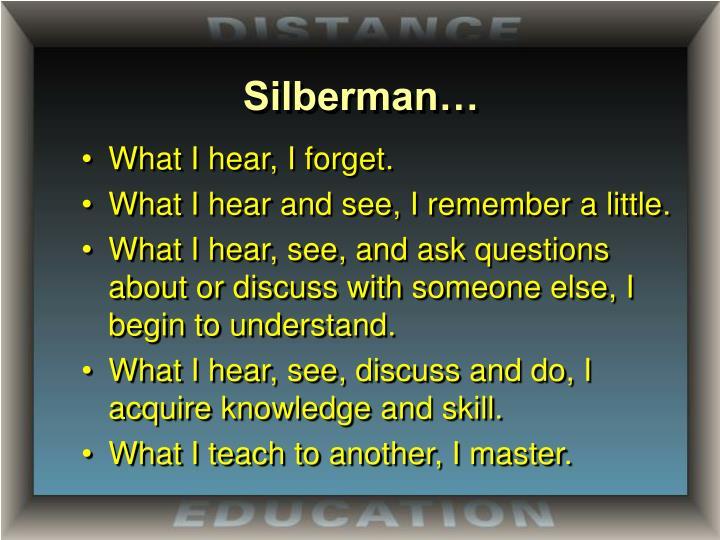 Silberman…