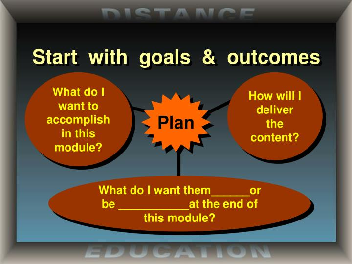 Start  with  goals  &  outcomes