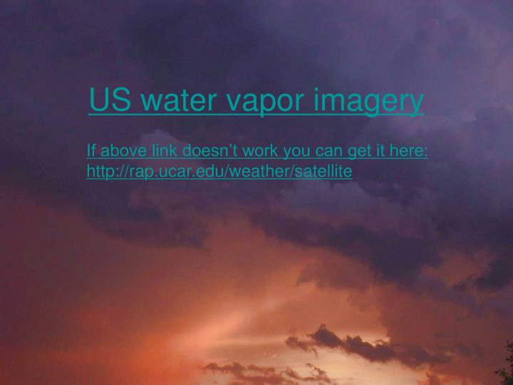 US water vapor imagery