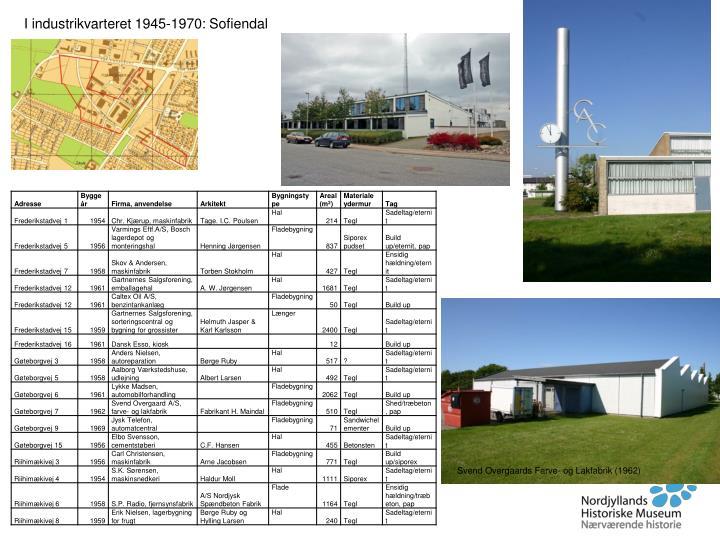 I industrikvarteret 1945-1970: Sofiendal