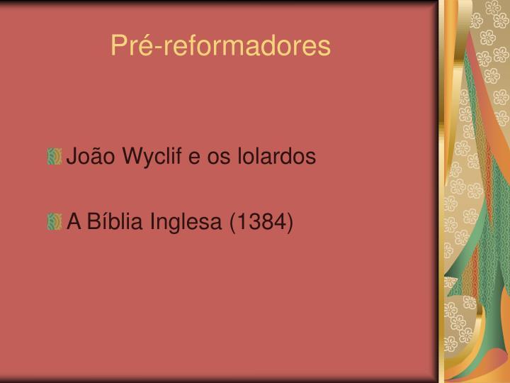 Pré-reformadores
