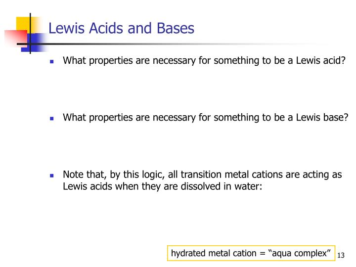 Lewis Acids and Bases