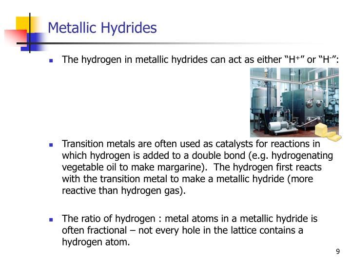 Metallic Hydrides