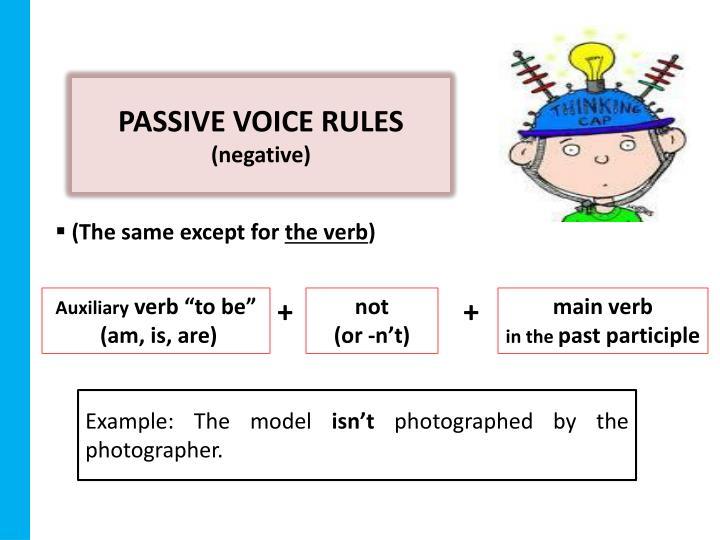 PASSIVE VOICE RULES