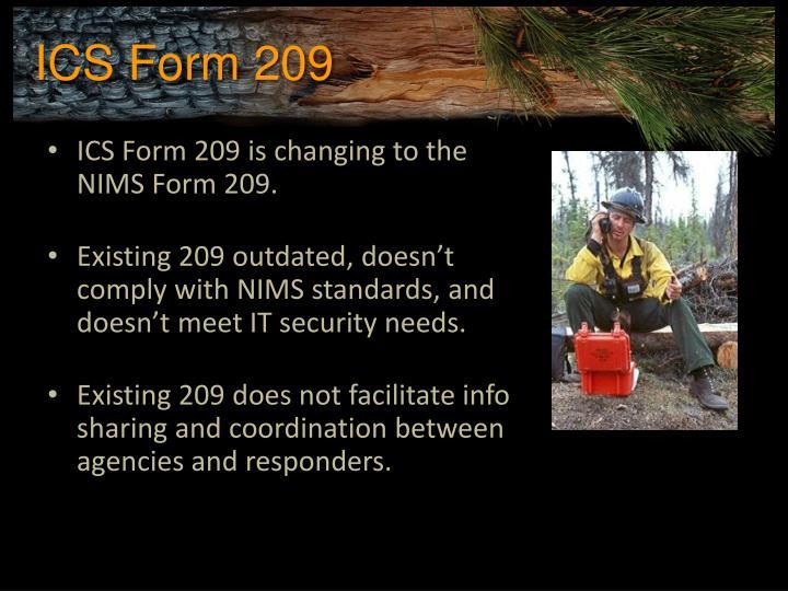 ICS Form 209